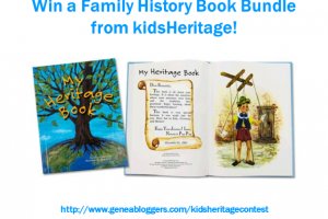 Enter the kidsHeritage Book Contest this week and you could win a customized book bundle for a grandchild, niece or nephew valued at $125!