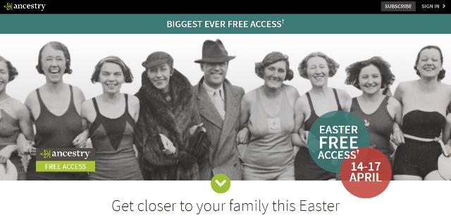 FREE ACCESS to ALL British Commonwealth Records at Ancestry.co.uk