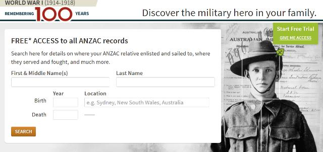 "NEW! Free Access to ANZAC Records at Ancestry.co.au! ""Every year on Anzac Day Australians and New Zealanders take time to pause and reflect on the sacrifices made by their Anzac ancestors, and how those sacrifices have helped shaped their nations to be what they are today. Anzac Day on 25th of April marks the anniversary of the day in 1915 during World War One when Australian and New Zealand troops went ashore at Anzac Cove on the Gallipoli peninsula. This was the Anzacs first major military action as part of the Great War, and the Anzac's faced fierce resistance from the Ottoman Turkish defenders."""