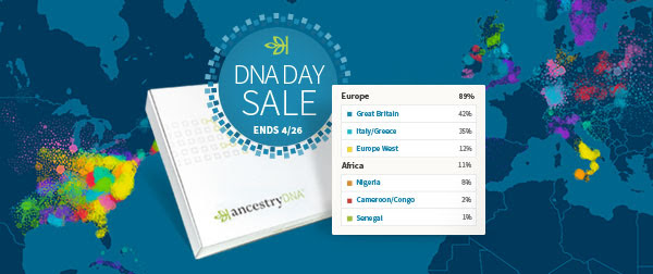 Save 20% at AncestryDNA! $79 for a DNA Test Kit! Are you ready for DNA testing? How about testing with the company with one of the largest database of DNA testers? If you've been waiting for a sale at AncestryDNA then here it is!
