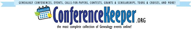 An easy way to track genealogy contests is to visit the Contest page at Conference Keeper.