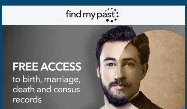 FREE ACCESS at Find My Past! Get free access to Census and BMD Records (birth, marriage and death) starting Thursday, April 27th through Monday, May 1st at Find My Past.