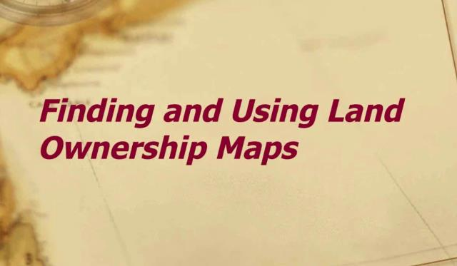 "FREE RECORDING Finding and Using Land Ownership Maps presented by Rick Sayre, CG, CGL, FUGA - ""Land ownership maps in this country are generally focused on the county level. Produced largely in the nineteenth-century in single sheet or atlas format, they were sold by subscription and also developed to commemorate events such as the centennial of the American Revolution. Though advances in printing such as lithography increased availability, maps were still expensive. Consequently, they likely will be found in more affluent areas. Property owners can also be found on military maps and other government published maps. Land ownership and residence can often be determined by correlating city directories with fire insurance maps."""