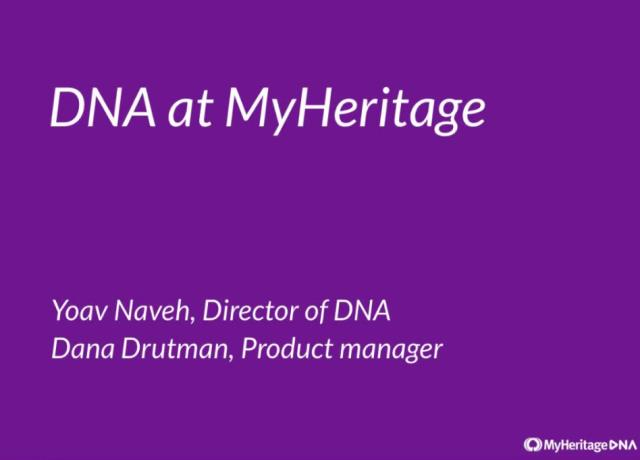 "FREE RECORDING: Introducing MyHeritage DNA ""In this webinar,you'll get an overview of MyHeritage DNA, including a background to DNA, how to take the MyHeritage DNA test (or upload raw DNA data files), understanding your ethnicity breakdown results and your DNA matches."""