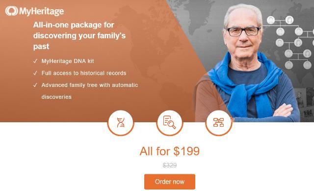 Get MyHeritage DNA for just $79 USD PLUS FREE SHIPPING