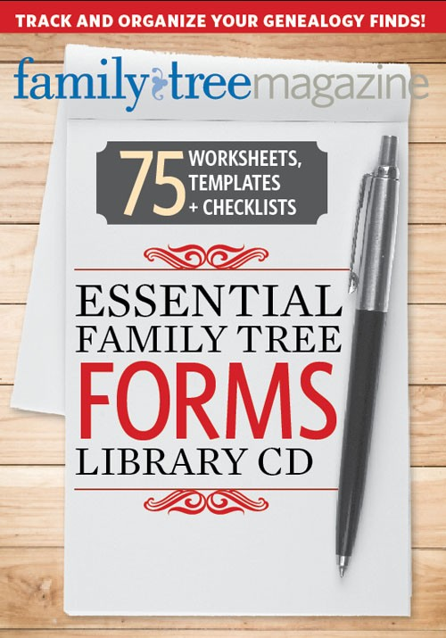 "Save over 25% on Essential Family Tree Forms Library CD Vol 1 from Shop Family Tree - ""In my opinion this is THE BEST set of fillable genealogy research templates, especially for beginners! You get over 75 different PDF templates that are easy to fill out, save and print."" Regularly $19.99, now only $14.99 – and if you use the SFTTHOMAS17 discount code at checkout, you save an additional 10% and can bring the price down to $13.50!"""