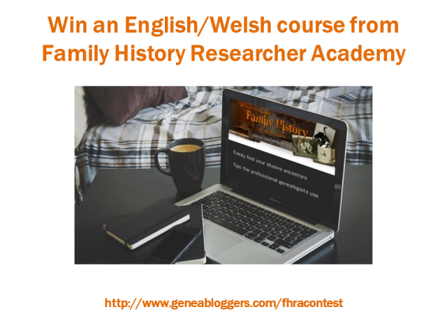 Win an English/Welsh family history course from Family History Researcher Academy