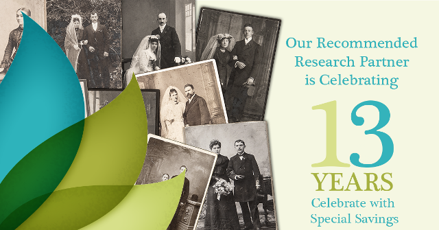 $150 Off Research Projects at Legacy Tree Genealogists! While Legacy Tree Genealogists is celebrating its 13th anniversary, you can save $150 on a 40+ hour research project. Use promo code SAVE150 at checkout - Offer good through May 31st.
