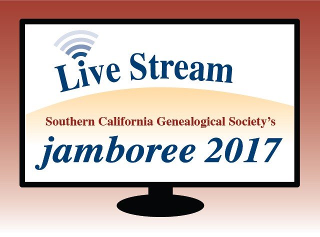Access 14 different 2017 Jamboree Livestreamed Sessions! If you missed watching these amazing presentations at the 2017 Jamboree of the Southern California Genealogical Society this past weekend, you can still register for FREE and watch the lectures!