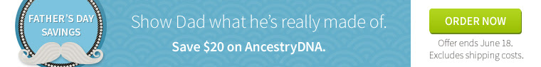 Save $20 on AncestryDNA - Canada only! We're not sure why this deal is not available in the US, but Canadians can save $20 on AncestryDNA during the AncestryDNA Father's Day sale now through June 18th.