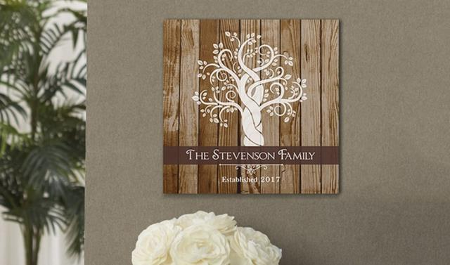 "Family Tree: The term ""family tree"" will include many different items on Groupon including personalized canvas prints, family name prints, jewelry, and more."
