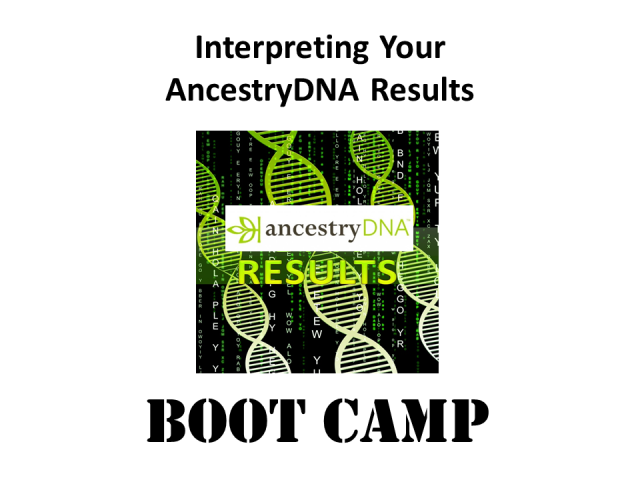 Ready to move forward with your DNA? Join DNA genealogy expert Mary Eberle for Interpreting Your AncestryDNA Results Boot Camp on Saturday, March 10, 2018