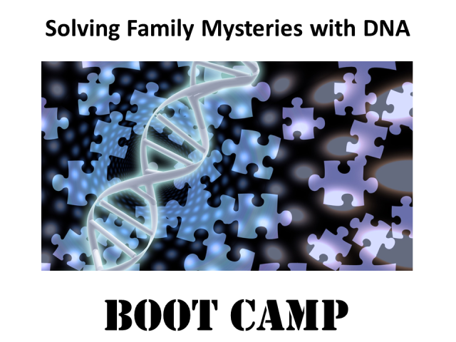 Trying to prove a family connection using DNA results? Join expert Mary Eberle for Solving Family Mysteries with DNA Boot Camp on Saturday, August 19, 2017