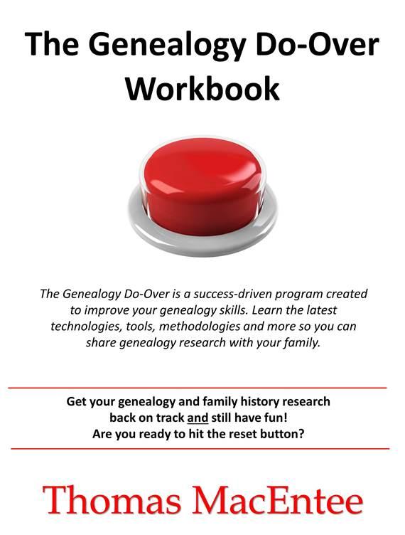 FIRST TIME EVER - FREE DOWNLOAD The Genealogy Do-Over Workbook, a $5.99 value! Genealogy Bargains for Monday, July 10, 2017 at genealogybargains.com