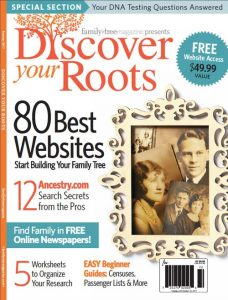 "Free Shipping PLUS Extra 10% Discount on Summer 2017 Discover Your Roots! ""The 2017 Discover Your Roots is your essential handbook for getting started in genealogy and family history research. The editors of Family Tree Magazine have selected 100 pages of expert guides, designed to guide you through basic genealogical records, best family history websites, and research steps for discovering your family tree."" Use promo code SFTTHOMAS17 at checkout to save 10% - your final price is $8.99! Offer expires July 28th."