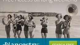 FREE ACCESS at AncestryUK this weekend! It is a long weekend in the UK with the Summer Bank Holiday on Monday, August 28th and Ancestry is celebrating with FREE ACCESS! Starting today through Monday