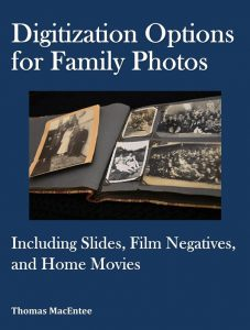 Genealogy author and educator Thomas MacEntee is offering his book Digitization Options for Family Photos as a free download this weekend!