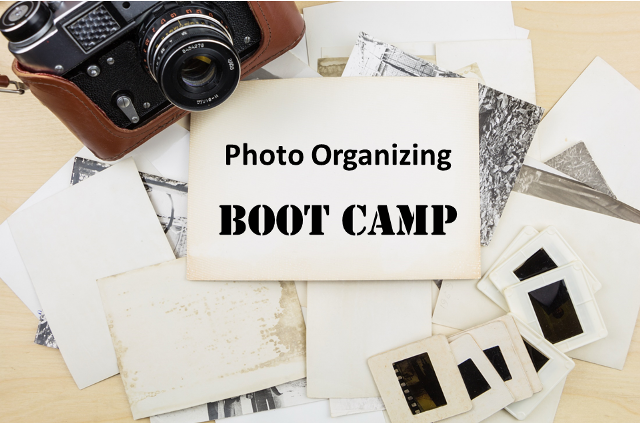 "Learn how to use technology to simplify photo organizing tasks and finally get your ""photo house"" in order during the Photo Organizing Boot Camp."