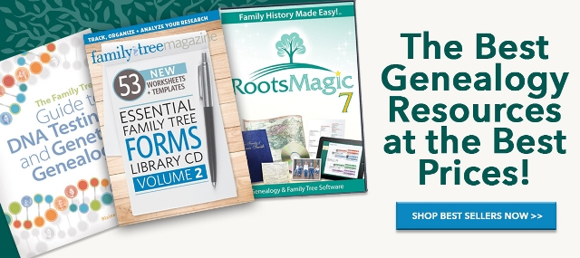 Family Tree Magazine Best Sellers - get the best prices on the best selling items at Family Tree Magazine including The Family Tree Guide to DNA Testing and Genetic Genealogy (regularly $29.99, now just $19.99( and more. Also, use promo code FAMTREE20 at checkout to get an extra 20% discount on items!