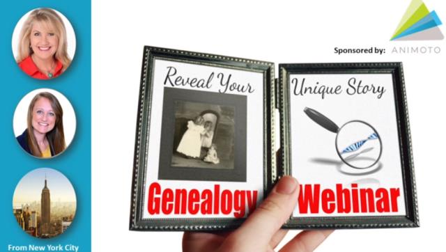 NEW! FREE WEBINAR RECORDING Reveal Your Unique Story through DNA, Family History & Video - Last week, Lisa Louise Cooke produced an amazing free webinar entitled Reveal Your Unique Story through DNA, Family History & Video with the help of DNA expert Diahan Southard along with Beth Forrester of Animoto. View the recording below and you'll get an idea of the quality of premium content at Genealogy Gems