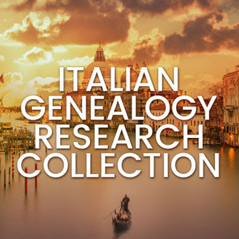 "Save 67% on Italian Genealogy Research Collection at Family Tree Magazine! Includes New Book: The Family Tree Italian Guide! ""This collection is chock-full of all the insights, sources, and strategies you'll need to successfully find genealogy records of your Italian ancestors and overcome common obstacles in Italian genealogy research."""