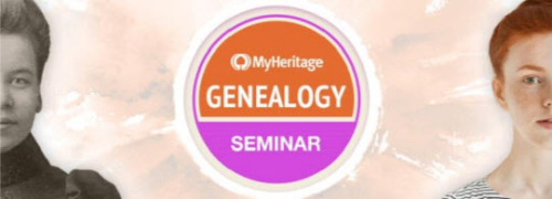 "FREE MyHeritage One-Day Genealogy Seminar - ""MyHeritage is proud to announce its first One-Day Genealogy Seminar, to be held on Sunday, October 29, 2017 from 7am to 3pm EDT. It will feature the participation of experts in the fields of DNA, Jewish genealogy, general research techniques, and technology trends for genealogy. The lectures will be broadcast from the MyHeritage headquarters in Israel. The public is invited to join the lectures via Legacy Family Tree Webinars from anywhere in the world for FREE. Later, the recordings will be available to view for free on demand."