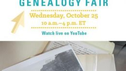 Join the National Archives for the 2017 Virtual Genealogy Fair on Wednesday, October 25, 2017. Sessions will be live streamed on YouTube and you're invited!