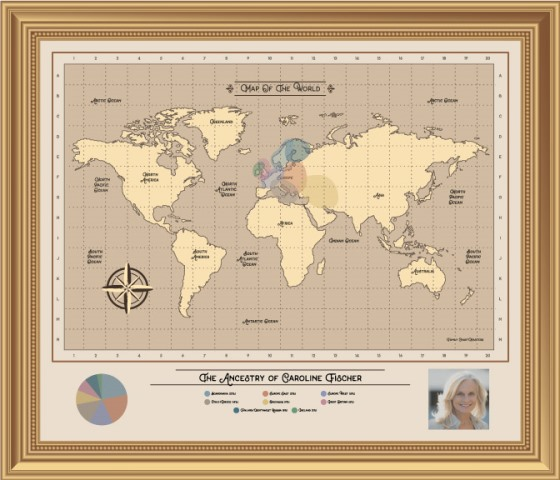 Save 30% on this amazing DNA ethnicity chart from Family ChartMasters