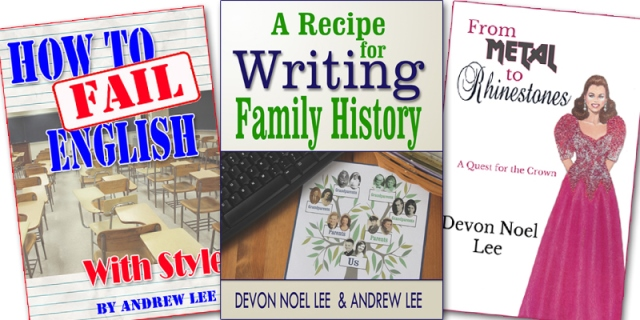 Special Family History Writing Bundle from Family History Fanatics! Did you know that November is Family History Writing Month as well as National Memoir Writing Month? The folks at Family History Fanatics have a special bundle - a 3 Book Combo - on sale with FREE SHIPPING!