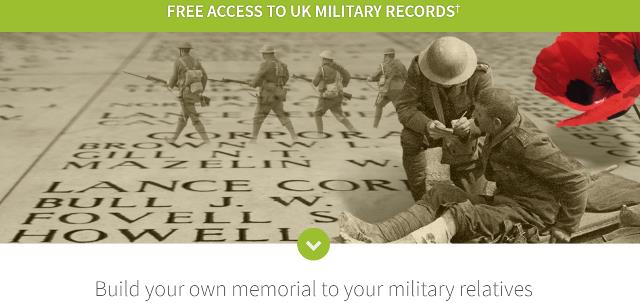 FREE ACCESS to UK Military Records at Ancestry.co.uk! Now through Monday, November 13th, in honour of Remembrance Day, you can access millions of military records for your UK ancestors who served.