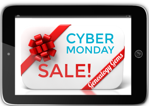 Save 50% at Genealogy Gems! HUGE Black Friday Sale at Genealogy Gems with 50% off All Digital Downloads. Use promo code CYBERTM at checkout! Sale valid through Tuesday, November 28th.
