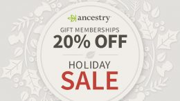 Still looking for the perfect Christmas gift for that hard-to-buy-for friend or family member? Save 20% on all Ancestry gift memberships now through December 25th at Genealogy Bargains