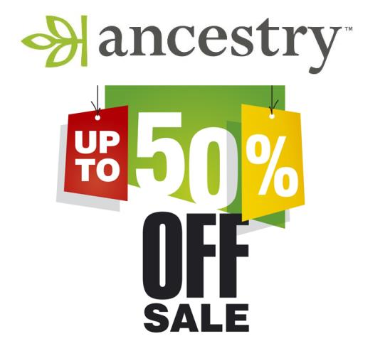 Save up to 50% on Ancestry.com subscriptions!