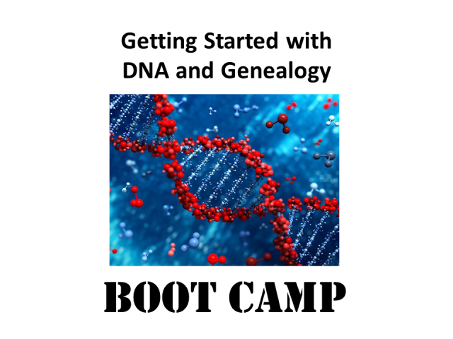Ready to up your DNA game? Join DNA genealogy expert Mary Eberle for Getting Started with DNA and Genealogy Boot Camp on Saturday, January 13, 2018