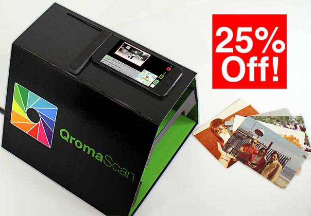 Are you sitting on boxes of family photos waiting to be scanned and then tagged with info such as date of the photo or who's in the photo? Check out QromaScan a new tool to automate the process - and save 25% via Genealogy Bargains