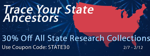 "Save 30% on State Research Collections at Family Tree Magazine! ""Discover tips and tricks to tracking your ancestor's state records. These all digital state collections are designed to support and enhance the search for your ancestors in individual states. Plus, since these collections are digital, they are available immediately after purchase and portable so you can start researching right away and even bring it with you on the road! Each collection has an OnDemand webinar, research download, and Family Tree Sourcebook. Some even have an extra city guide download included. Check out some of our most popular collections below or shop all collections."""