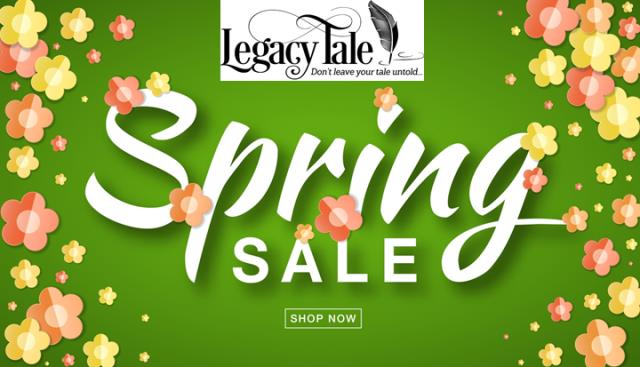 "Save 50% on All Digital Products at Legacy Tale! ""Spring has finally sprung sale! (We're tired of winter and so ready for spring! Join us to celebrate with 50% off all digital products at LegacyTale.com!)"""