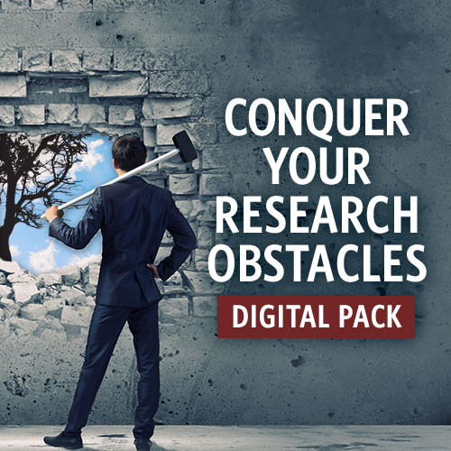 Save 75% on Conquer Your Research Obstacles Digital Pack Bundle from Family Tree Magazine
