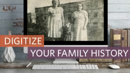 Ensure that your family history isn't lost or forgotten by digitizing all your old photos and documents - learn how with the Digitize Your Family History online course at Family Tree University! Genealogy Bargains has an EXCLUSIVE promo code to save you $10 USD!
