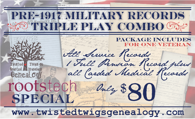 Save 70% on NARA Military Records with Pre-1917 Triple Play Combo via Twisted Twigs!