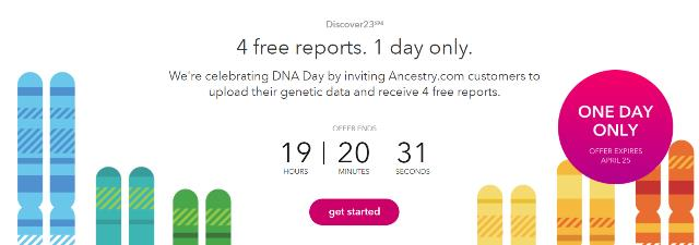 Upload your AncestryDNA data and get 4 FREE REPORTS