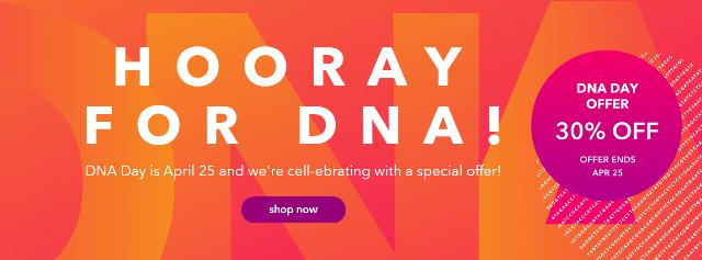 Save 30% on all DNA tests at 23andMe!