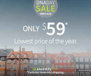 AncestryDNA has lowered the price of its popular DNA test kit to just $59 USD - the lowest price of the year! Come celebrate National DNA Day with DNA Bargains and get all the best prices on DNA test kits, DNA books and webinars, and more!