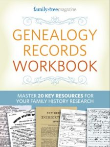 Are you trying to track down an ancestor but at a loss of where to look? Scratching your head when you look at census records, draft lists, or other documents? Become a master at researching and analyzing your ancestors' historical documents. The Genealogy Records Workbook contains tips for getting the most out of census records, birth records, probate records, pension records, naturalization records, passenger lists and more. No matter the type of document, you will find the answers to locating and understanding it with this handy e-book.