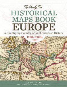 Family Tree Historical Maps Book: Europe: Explore your ancestors' European homelands through gorgeous reproductions of 18th-century maps, 19th-century maps and early 20th-century maps. More than 200 full-color historical maps, covering the peak years of European immigration to America, will help you understand changing boundaries in ancestral countries, and inform your search for genealogical records.