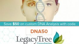 Save $50 on DNA Discovery Plan atLegacy Tree Genealogists!