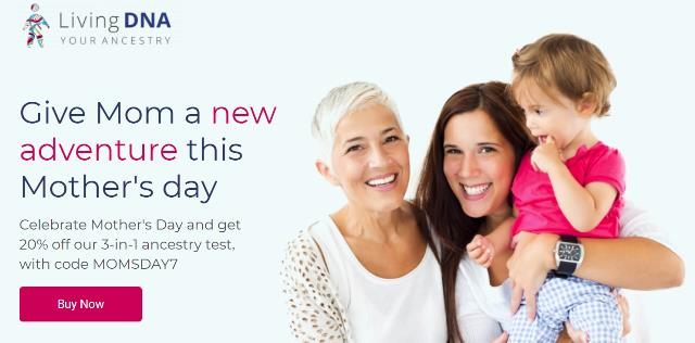 Save 50% on 3-in-1 DNA test kit at Living DNA during Living DNA Mother's Day Sale
