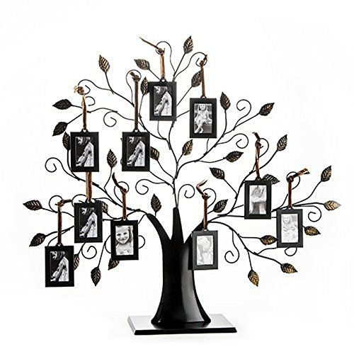 Klikel Family Tree Displays - a great Mother's Day gift! - If you are looking for a way to use your genealogy research and digitized family photos here is a great idea . . . a metallic family tree display from Klikel. While there are many other companies making similar products, the Klikel line are the best in terms of construction, durability, and design. My recommendation is to get the Klikel Family Tree Frame Display with 10 Hanging Picture Photo Frames priced at just $39.99 USD!