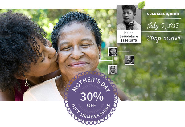 Save 30% on Ancestry Gift Memberships - the PERFECT Mother's Day gift*! Strong moms run in her family – and this gift for Mother's Day can help her prove it.