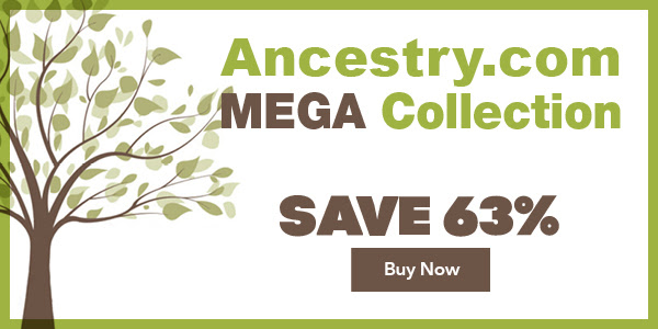 "Save 63% on Ancestry.com MEGA Collection from Family Tree Magazine! ""10 Resources - 1 Unbelievably Low Price! This collection is jam-packed with essential tools, advice, tips and tricks to getting the most out of the world's largest genealogy website, Ancestry.com. With ten resources covering all aspects of Ancestry.com-and at a 63% discount off retail prices-this collection has so much valuable information even Ancestry.com power-users will discover new tricks. The book, articles, how-to videos and webinars explain everything you need to know about the ever-evolving Ancestry.com."""